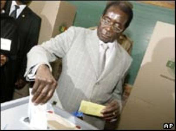 Mr Mugabe blames Zimbabwe's problems on a Western plot