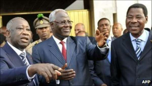 Will West African leaders convince Laurent Gbagbo (left) to cede power?