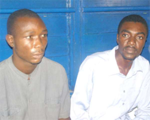 Mallam Tetteh (left) and his landlord, Derek Ameyaw