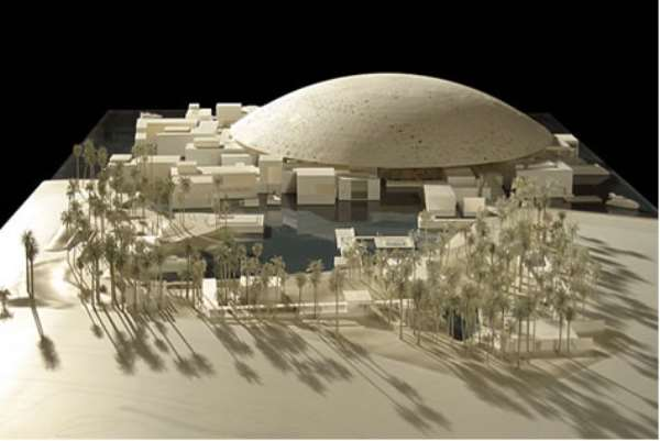 A PLAN OF THE FUTURE LOUVRE ABU DHABI DESIGNED BY JEAN NOUVEL