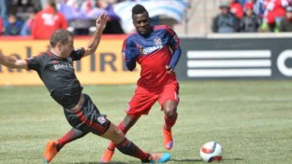 Black Stars striker David Accam voted Chicago Fires Most Valuable Player for 2015