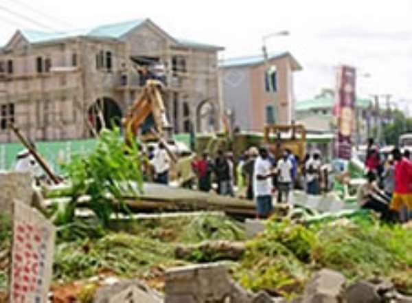 AMA pulls down structures on watercourses