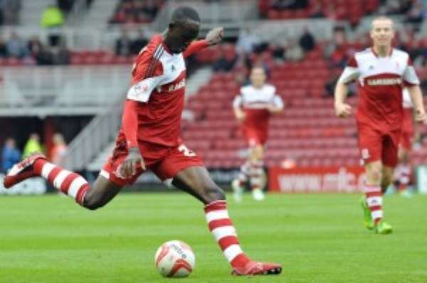 Albert Adomah has been in good form for Boro