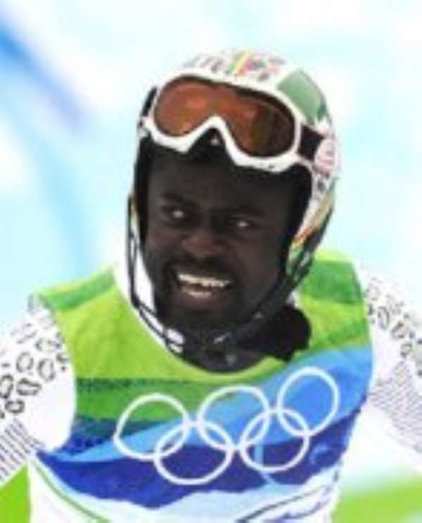 Ghana's first professional skier, Kwame Nkrumah-Acheampong
