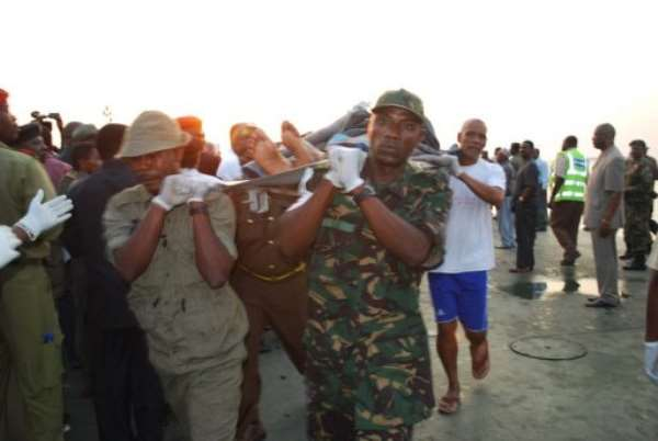 Officials said emergency workers had rescued 149 people so far and recovered 31 bodies.  By Issa Yussuf (AFP)