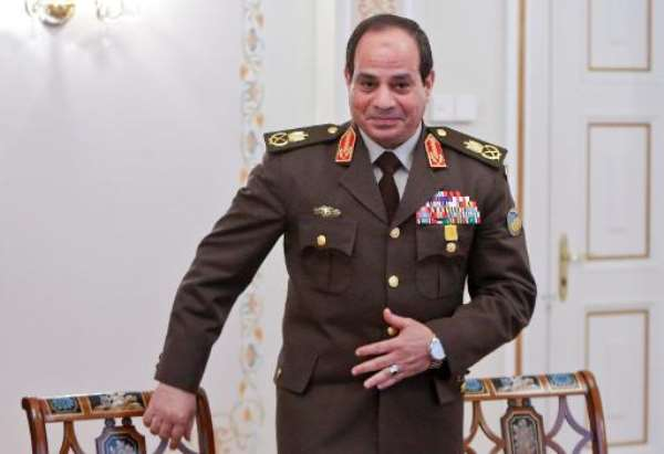 Former Egyptian army chief Abdel Fattah al-Sisi attends a meeting with Russian President Vladimir Putin in Novo-Ogaryovo, outside Moscow, on February 13, 2014.  By Maxim Shemetov (AFP/File)