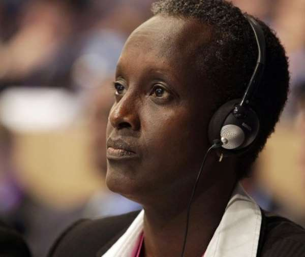 Burundi Football Association chief Lydia Nsekera attends the 62nd FIFA Congress in Budapest, on may 25, 2012.  By Peter Kohalmi (AFP/File)