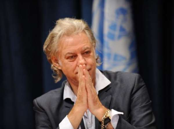 Bob Geldof said Ethiopia must develop with greater freedom of expression.  By Stan Honda (AFP/File)