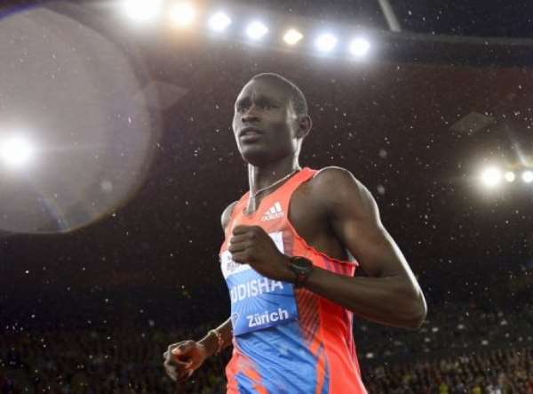 David Rudisha competes in the men's 800m at a Diamond League Athletics meeting in Zurich, on August 30, 2012..  By Fabrice Coffrini (AFP/File)
