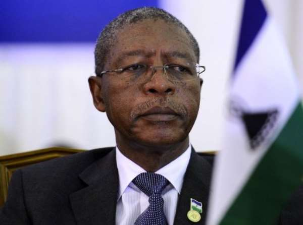Prime Minister Pakalitha Mosisili has ruled Lesotho for 14 years.  By Stephane de Sakutin (AFP/File)