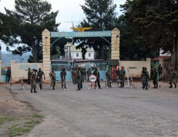 Gunshots were heard for four hours at a military camp near Ivato airport.  By Gregoire Pourtier (AFP/File)