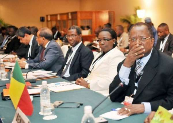 Participants attend an emergency meeting of Economic Community of West African States (ECOWAS).  By Sia Kambou (AFP/File)