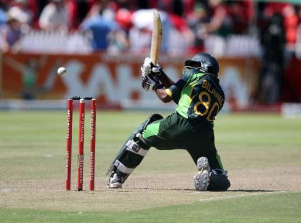 Bilawal Bhatti is trapped LBW during the first ODI against South Africa at Newlands in Cape Town on November 24, 2013.  By Anesh Debiky (AFP)