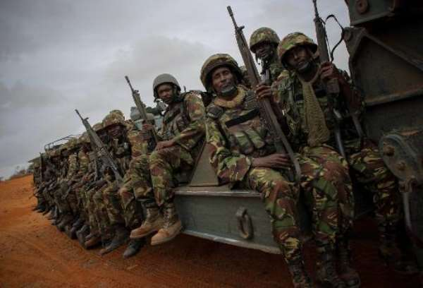 Handout photograph from 2012 released by African Union-United Nations showing Kenyan Contingent soldiers serving with African Union Mission in Somalia.  By Stuart Price (AU-UN IST/AFP/File)