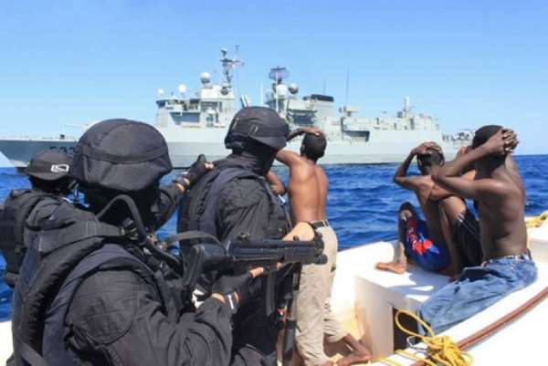The deployment of international warships off the Somali coast has led to a drop off in pirate attacks this year.  By Handout (AFP)