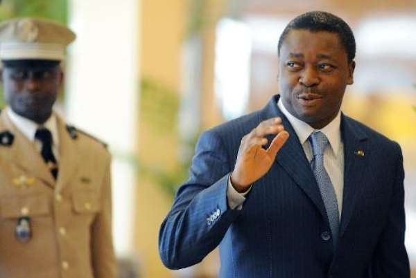 Togo's President Faure Gnassingbe arrives for an ECOWAS Summit gathering of West African leaders in Abuja, Nigeria, on November 11, 2012.  By Pius Utomi Ekpei (AFP/File)