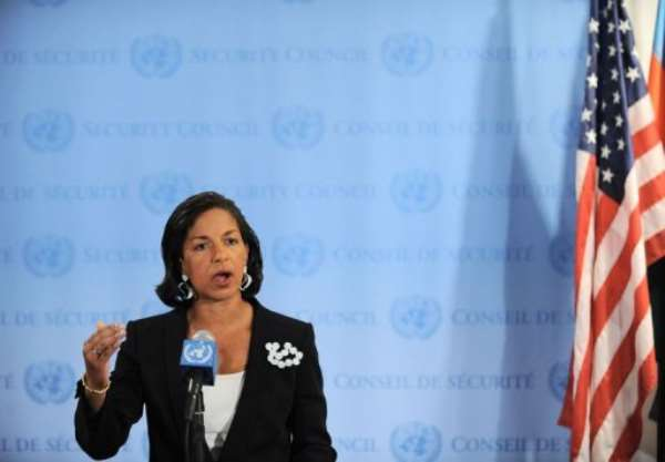 Susan Rice, US Ambassador to the United Nations, speaks to the media.  By Stan Honda (AFP/File)