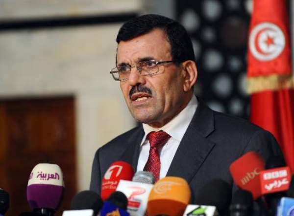 Tunisian Prime Minister Ali Larayedh gives a press conference on October 23, 2013 in Tunis.  By Fethi Belaid (AFP/File)