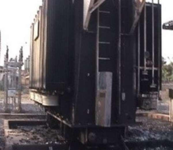 Lady suffers severe burns after Winneba transformer explosion