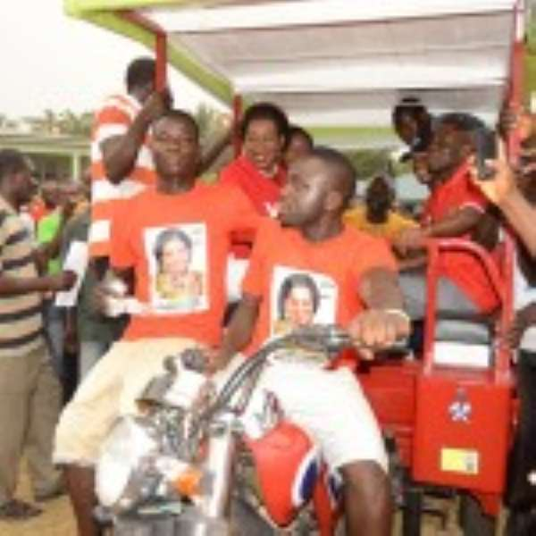 Queenstar Donates 10 Tricycles In Agona East