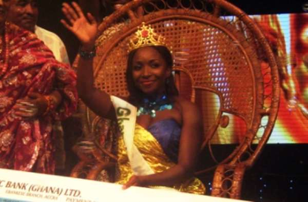 Nana Ama Agyeiwaa, 2010 winner of Ghana's Most Beautiful