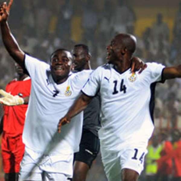 Amoah is joint top scorer for Ghana