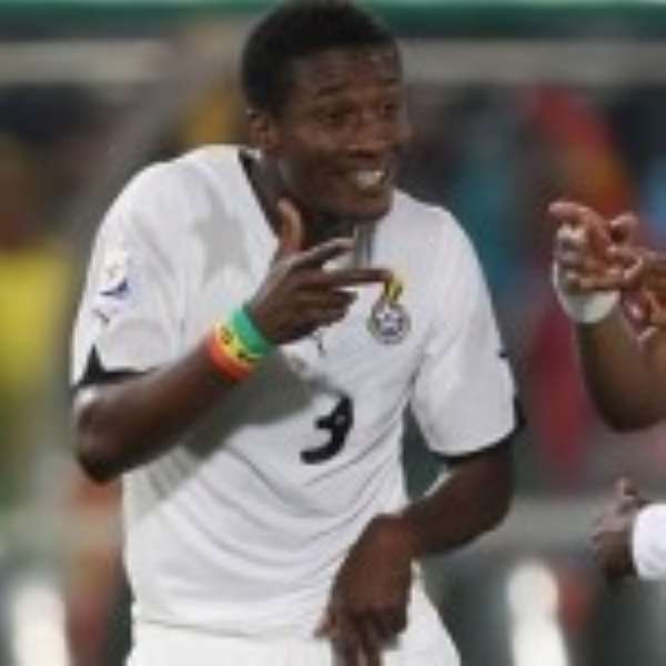 Gyan scores in Ghana's warm up game
