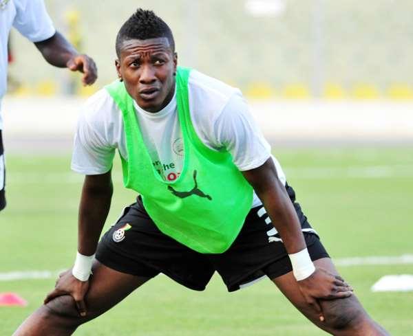 Asamoah Gyan looking ahead