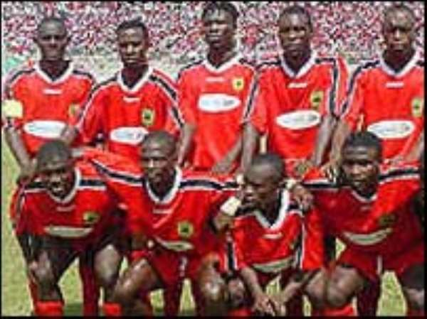 Asante Kotoko SC players  partners of Sunderland