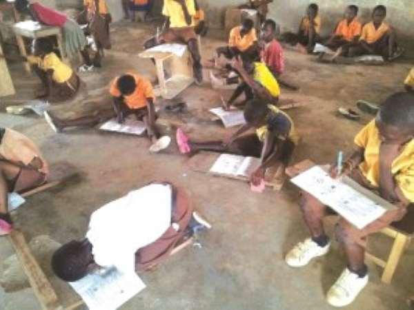 NDC's  Education  Legacy … Poor Pupils At Prestea Write On Bare Floor