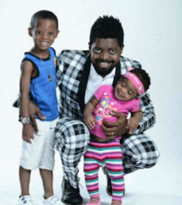 Picture Of Basketmouth With Kids