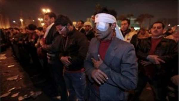 Protesters in Tahrir Square say they will stay there until President Mubarak leaves