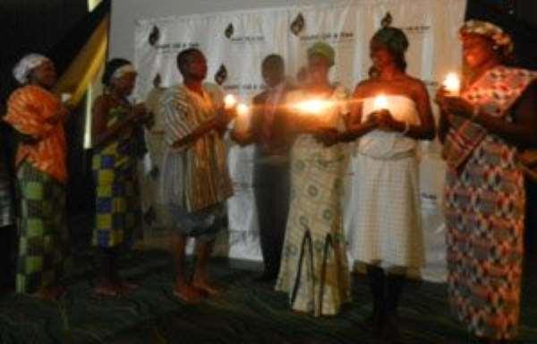 Emmanuel Armah Kofi Buah and the 10 beneficiaries