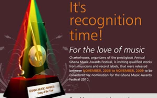 Entries for Ghana Music Awards 2010 begins