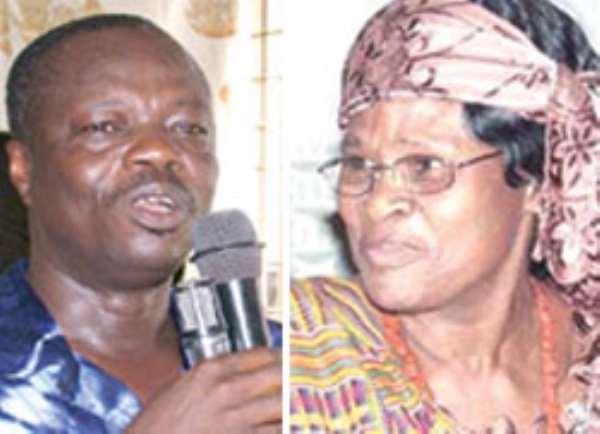 Gladys Asmah, Biney in a brawl… Over defeat of NPP