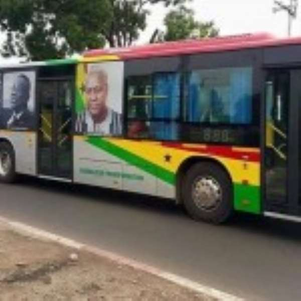 Group petition Kufuor, Rawlings to decline images on Mahama buses