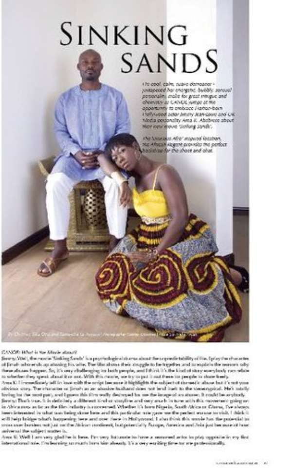 Jimmy Jean-Louis and Ama K featured in July issue of CANOE Magazine