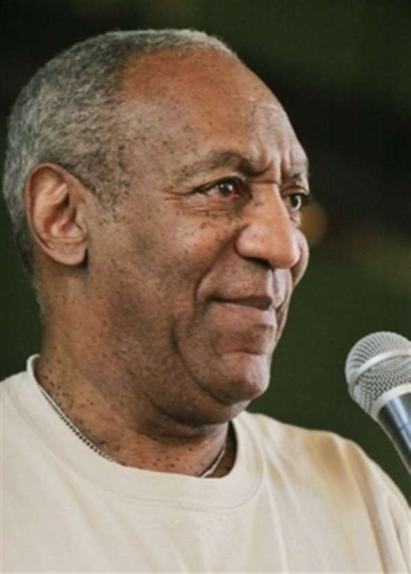 Comedian Bill Cosby speaks to the students at John McDonogh High School in New Orleans