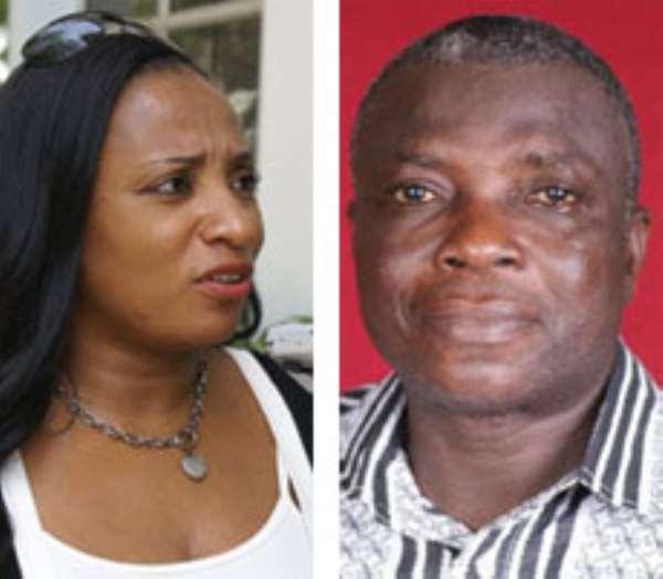 Mrs. Zita Okaikoi, Minister of Tourism (left), Mr. Joseph Amenowode, Volta Regional Minister (right)