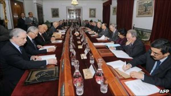 The interim government must arrange a date for future elections