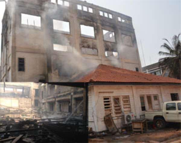 Judgement Debt Building Burnt