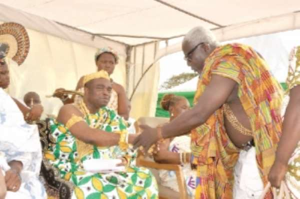 Ofankor chief observes one year anniversary
