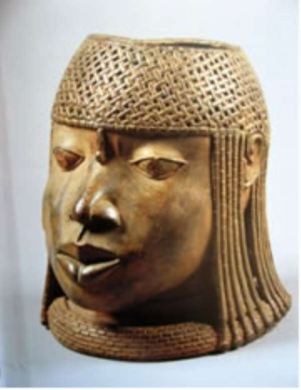 Commemorative Head of a King, Benin, Ethnology Museum BerlinOne of the thousands of Benin artefacts stolen by the British in 1897,now on exhibition at the Art Institute of Chicago.