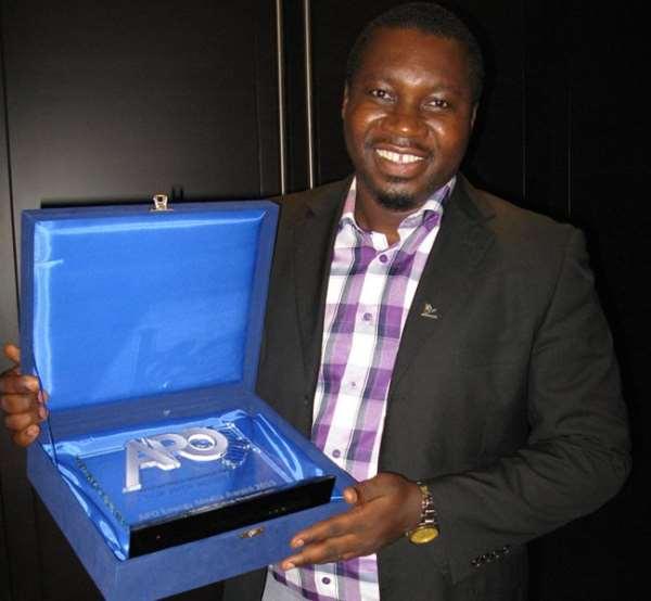 Luv FM's Kofi Adu Domfeh wins APO Energy Media Award