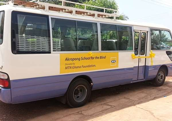 MTN provides ICT centre, 33-seater bus to the Akropong School for the Blind