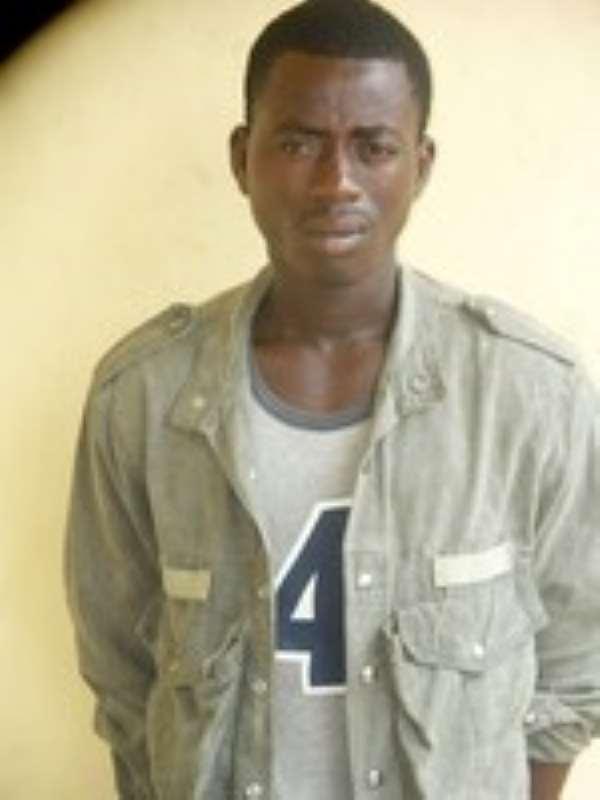 DANSOMAN MURDER SUSPECT GRABBED