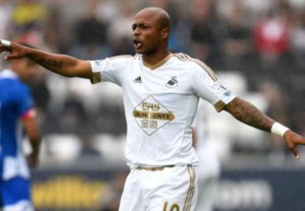 Black Stars deputy skipper Andre Ayew is the second most fouled player in the English Premier League
