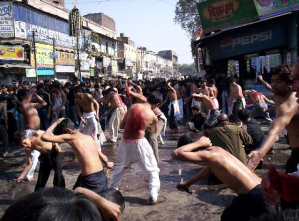 Devotees Paying bloody homage to Hazrat Imam Husain