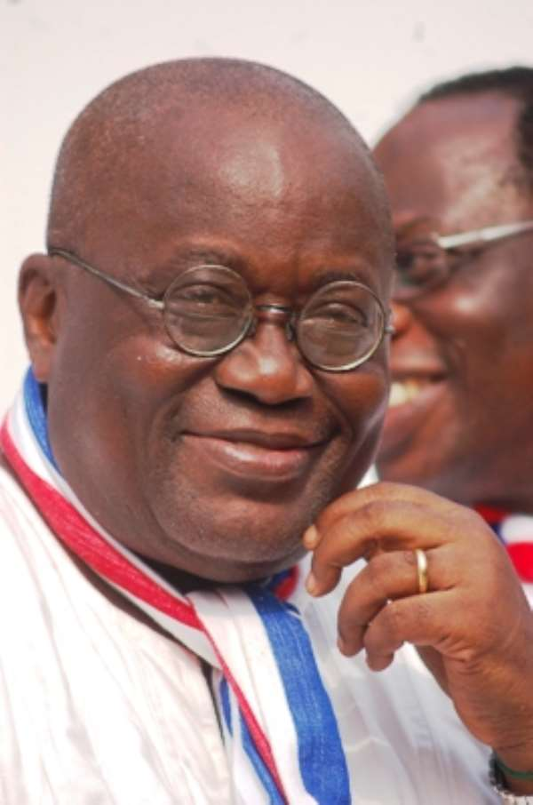 The presidential candidate of the NPP, Nana Addo Dankwa Akufo-Addo