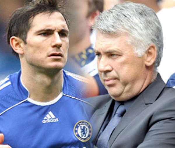 Frank Lampard ans Carlo Ancelotti